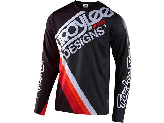 Troy Lee Designs Sprint Ultra Pitkähihainen Jersey Pyöräilypaita, tilt black/grey